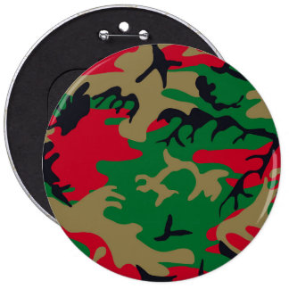 Cool Modern Military Camouflage Design 6 Inch Round Button