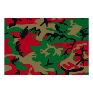 Cool Modern Military Camouflage Design Poster