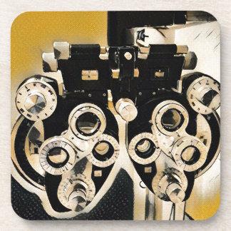 Cool Modern Optometrists Phoroptor Lenses Beverage Coasters