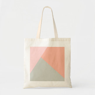 Cool modern pastel colors abstract pattern budget tote bag