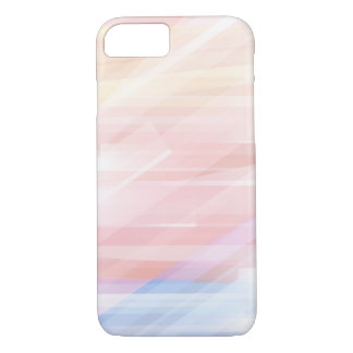 Cool Modern Pastel Stripes iPhone 8/7 Case