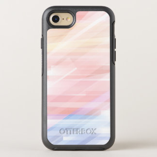Cool Modern Pastel Stripes OtterBox Symmetry iPhone 7 Case