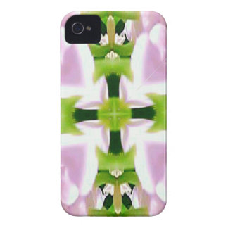 Cool Modern Pink Green Chic Abstract iPhone 4 Cases