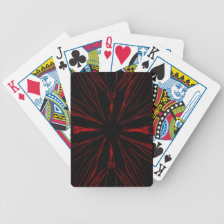Cool Modern Red Black Goth Pattern Bicycle Playing Cards