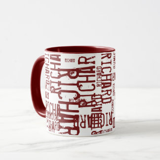 cool & modern red bordeaux name, typography mug