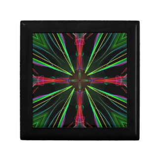 Cool Modern Red Green Christmas Abstract Keepsake Box