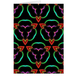 Cool Modern Red Teal Funky Pattern Card