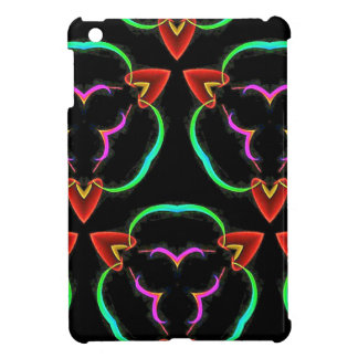 Cool Modern Red Teal Funky Pattern iPad Mini Case