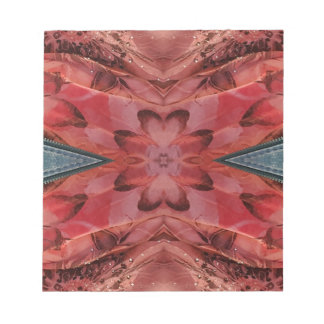 Cool Modern Rose Colored Pattern Notepad