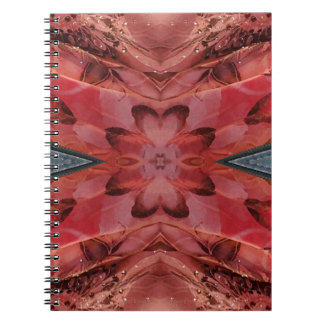 Cool Modern Rose Colored Pattern Spiral Notebook