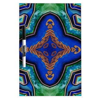 Cool Modern Royal Blue Artistic Pattern Dry Erase Board