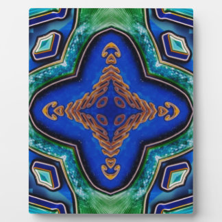 Cool Modern Royal Blue Artistic Pattern Plaque
