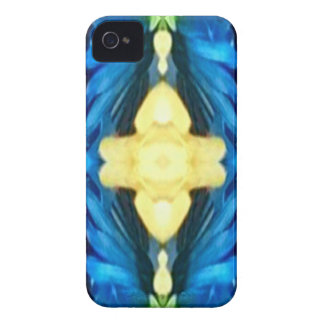 Cool Modern Rtistic Blue Yellow Pattern iPhone 4 Case-Mate Case