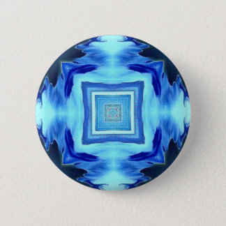 Cool Modern Shades of Blue Patterns Shapes 2 Inch Round Button