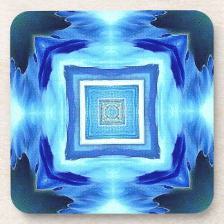 Cool Modern Shades of Blue Patterns Shapes Coaster