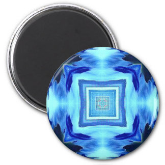 Cool Modern Shades of Blue Patterns Shapes Magnet