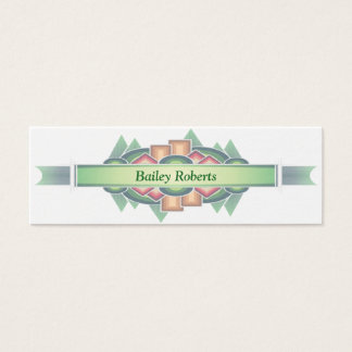 Cool Modern Southwestern Style Mini Business Card