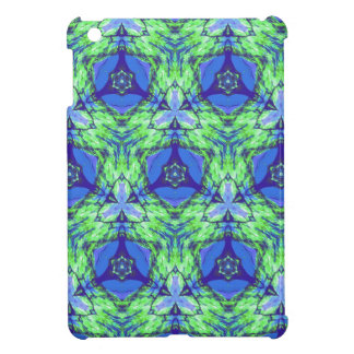 Cool modern vibrant blue lime green pattern iPad mini cases