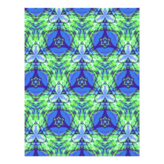 Cool modern vibrant blue lime green pattern letterhead template