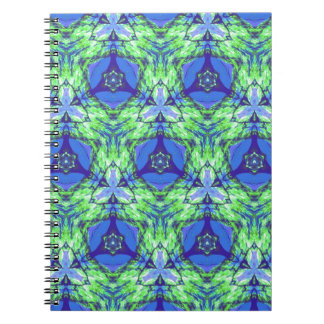 Cool modern vibrant blue lime green pattern note books