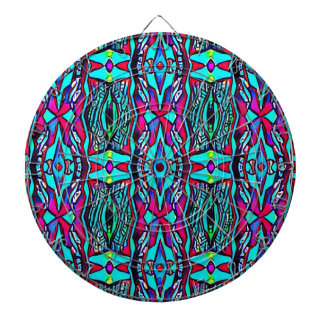 Cool Modern Vibrant colored Pattern Dartboard
