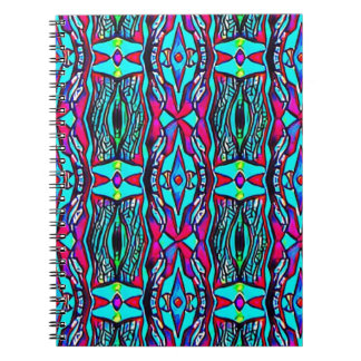 Cool Modern Vibrant colored Pattern Notebooks