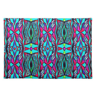 Cool Modern Vibrant colored Pattern Placemat