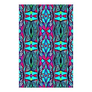 Cool Modern Vibrant colored Pattern Stationery