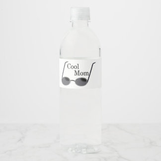 Cool Mom Customize With Your Information Water Bottle Label