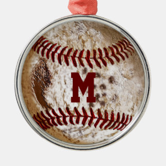 Cool Monogrammed Baseball Ornaments