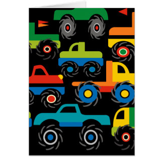 Cool Monsters Trucks Transportation Gifts for Boys Card