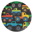 Cool Monsters Trucks Transportation Gifts for Boys Plate