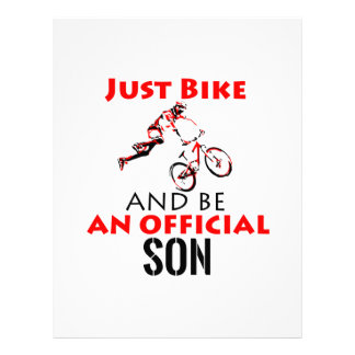 cool monthain bike  design letterhead
