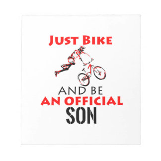 cool monthain bike  design notepad
