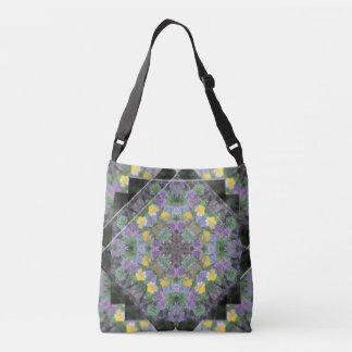 Cool Moonlight Lavender Mandala Cross Body/Tote Crossbody Bag