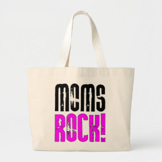 Cool Mothers Day Birthdays Christmas : Moms Rock Canvas Bags