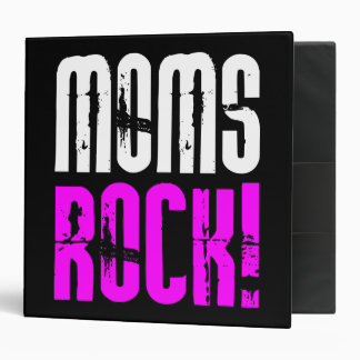 Cool Mothers Day Birthdays Christmas Moms Rock Binder