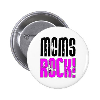 Cool Mothers Day Birthdays Christmas Moms Rock Button