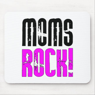 Cool Mothers Day Birthdays Christmas Moms Rock Mousepad