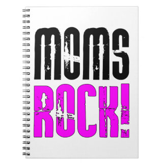Cool Mothers Day Birthdays Christmas Moms Rock Note Book