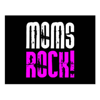 Cool Mothers Day Birthdays Christmas : Moms Rock Postcard