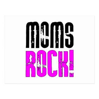 Cool Mothers Day Birthdays Christmas : Moms Rock Postcard