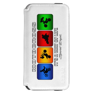 Cool Motocross It Is A Way Of Life Incipio Watson™ iPhone 6 Wallet Case