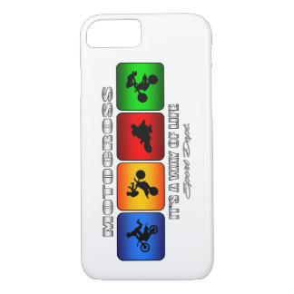 Cool Motocross It Is A Way Of Life iPhone 8/7 Case