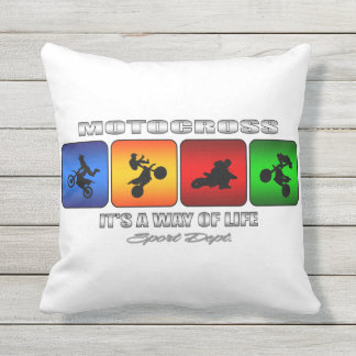 Cool Motocross It Is A Way Of Life Outdoor Pillow
