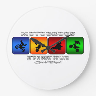 Cool Motocross It Is A Way Of Life Wallclock