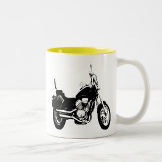 Cool motorcycle bike silhouette Two-Tone coffee mug