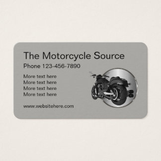 Cool Motorcycle Theme Business Card