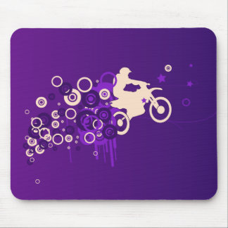 Cool Motorcyclist | Purple Mouse Pad