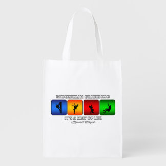 Cool Mountain Climbing It Is A Way Of Life Reusable Grocery Bag